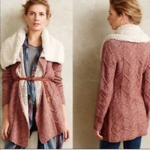 Sleeping on Snow Pink Bondurant Cardigan Small